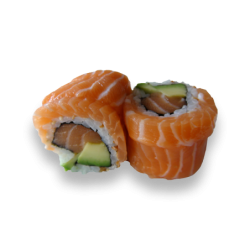 Rainbow Roll Salmon Roll 1...