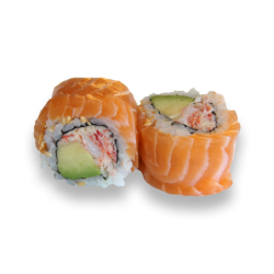 Rainbow Roll Salmon Roll 2...